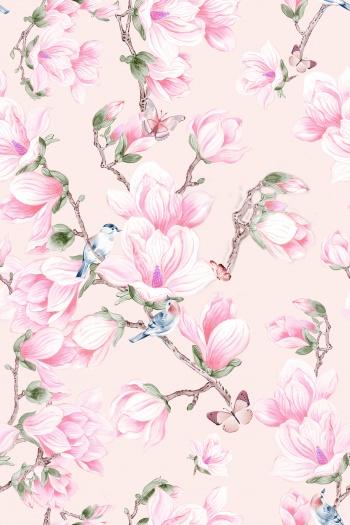 Birds, butterflies, flowers