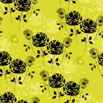 Modern Lemon Grey Florals