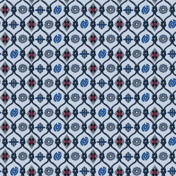 Abstract geometric seamless pattern on texture background in retro colors