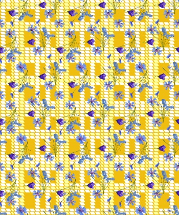 Plaid Pattern and Flowers