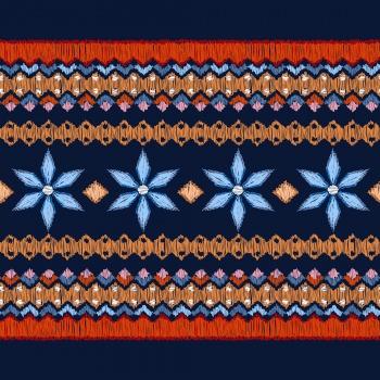 Folk Geometric Stripes