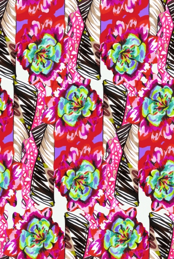 Handmade colorful mixed design