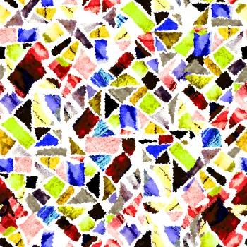 Formless geometric shapes.