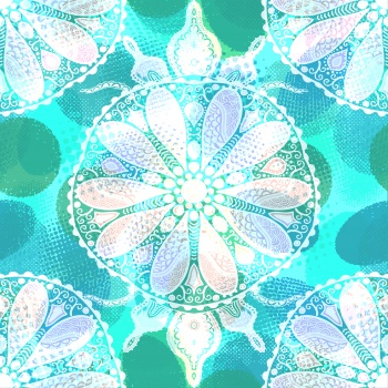 White Floral Mandala