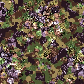 Flowers On Camouflage