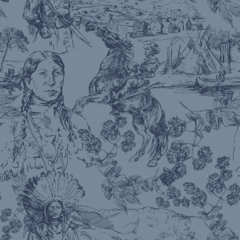 Red Indians-Toile de Jouy