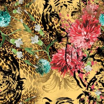 Flowers on Leopard