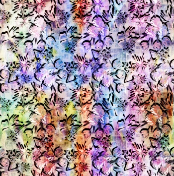 Repeatable floral pattern