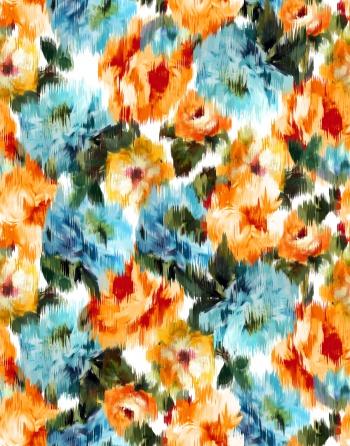 Blurred Orange Roses