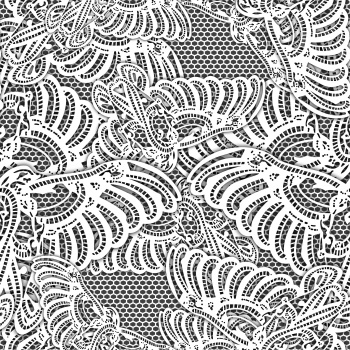 Digital and white lace