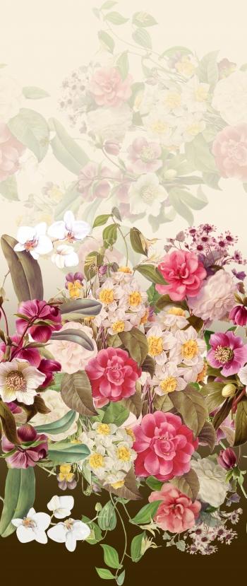 Transparent and untrasparent flower bouquets