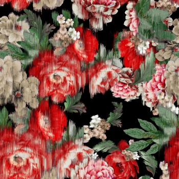 Blurred Red Flowers