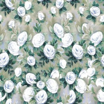 Hand drawn white roses.