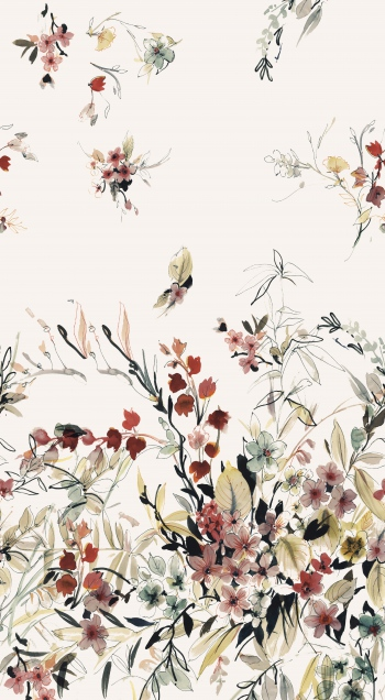 Watercolored beautiful wildflowers