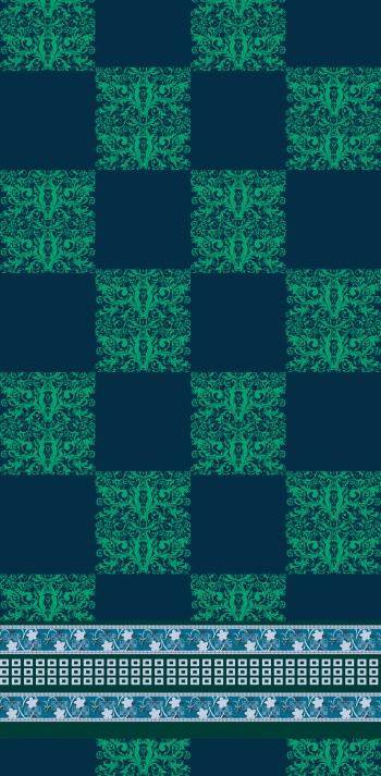 Green baroque & Blue ethnic