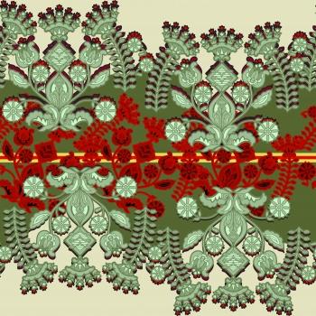 Artistic Green Flowers