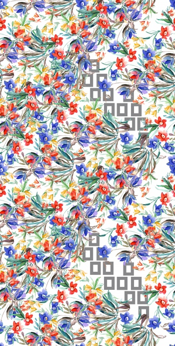 Mixed - geometry and floral