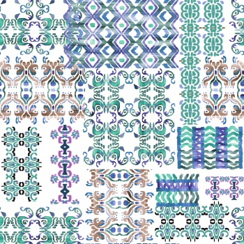 Purple and green Motifs