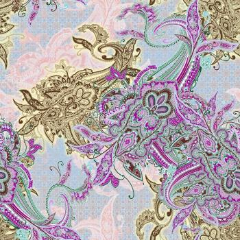 Purple ethnic motifs