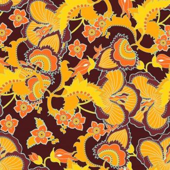 Yellon Ethnic Flowers