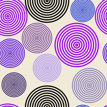 Purple Based Rounded Stripes