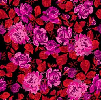 Oversize Fuchsia Roses