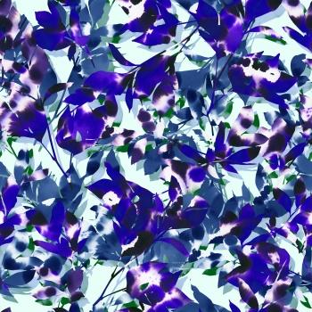 Floral - Tie Dye-Princess Blue
