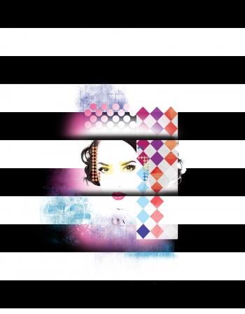 Stripes shapes &girl