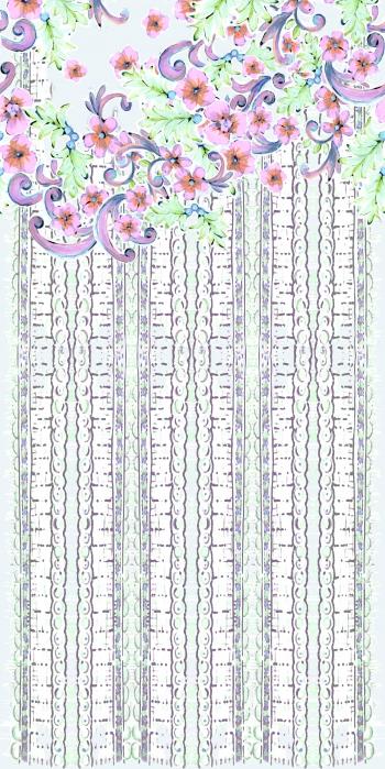 Flowers and stripes v--3