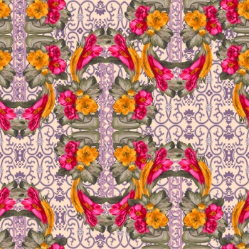 Modified Flowers and Baroque Motifs