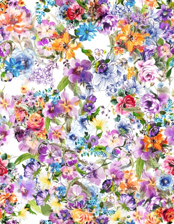 Heaven`s purple garden