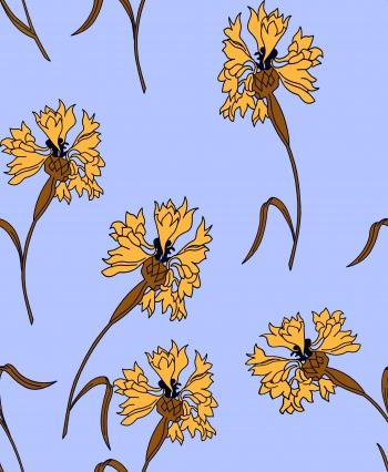 Yellow World`s Yellow Flowers