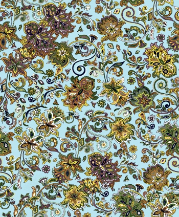 Yellow Ethnic Floral Design