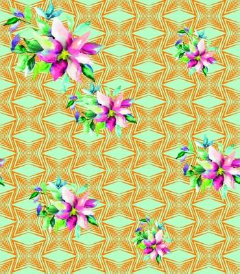 Flowers -Tribal motifs