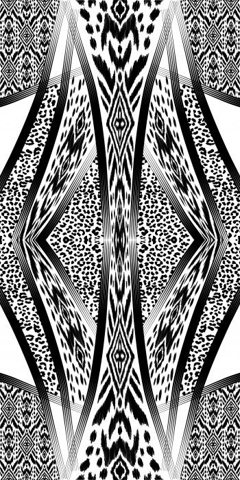 Leopard in tribal design
