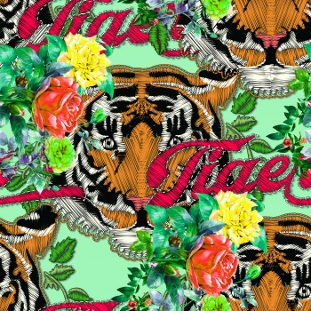 Embroidery Effect Tiger