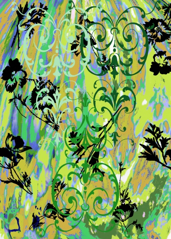 Damasks and neon surface