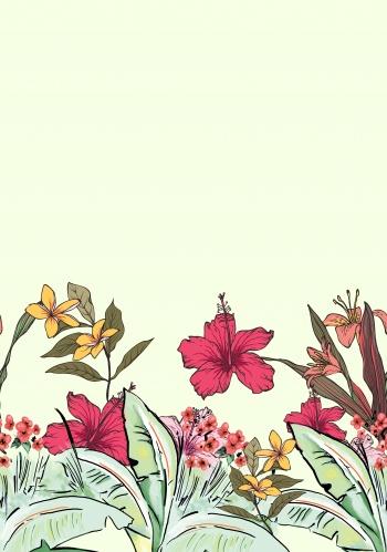 Hand-drawn Flora