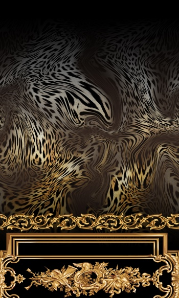 Gold Frames and Leopard