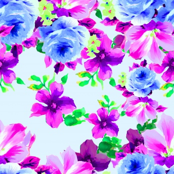 Love between blue and pink