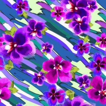 Brushstrokes-Flowers
