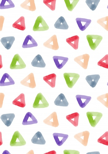 Abstract beautiful watercolor triangle geometric pattern