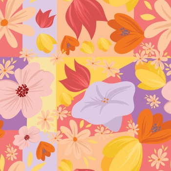 Abstract color block trendy print pattern