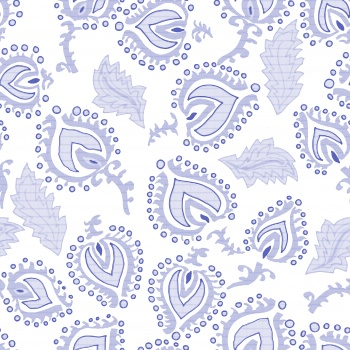Abstract Ethnic Motifs-Blue