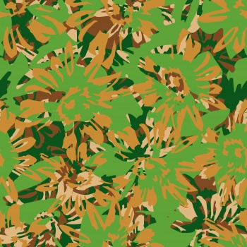 Abstract Flowers-camo
