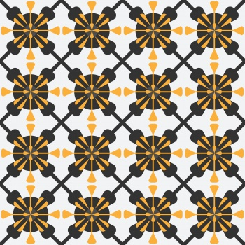 Abstract geometry floral pattern
