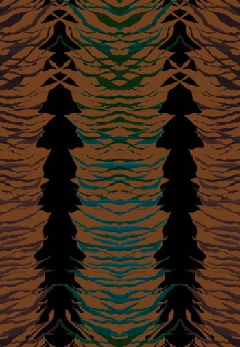 Abstract irregular shapes