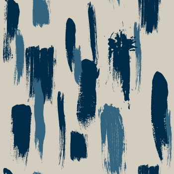 Abstract painterly brush stroke design