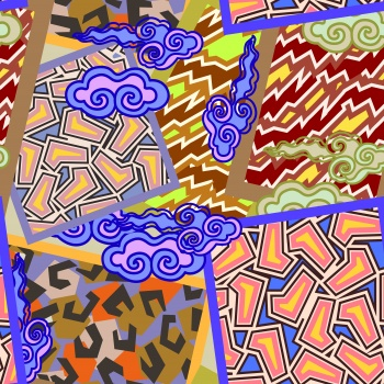 Abstract pattern clash
