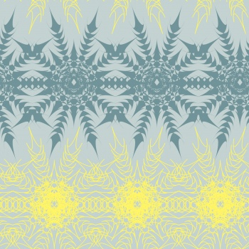 Abstract pattern - Gray and yellow